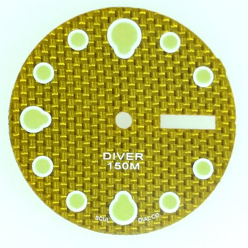 Yellow Carbon Fiber 6309 Dial