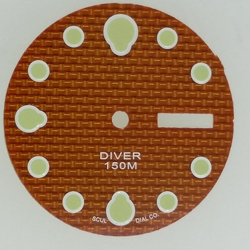 Orange Carbon Fiber 6309 Dial