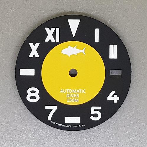 7002 California Dial - Black & Mustard