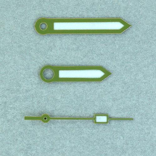 Set #55 Military Green Bayonet Set + Box SS