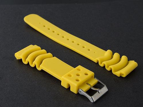 Yellow Polyurathane Wave Strap