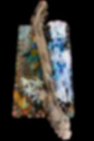 Waterfall mixed media mosaic