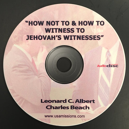 How NOT To and How To Witness to Jehovah's Witnesses Skit CD ROM