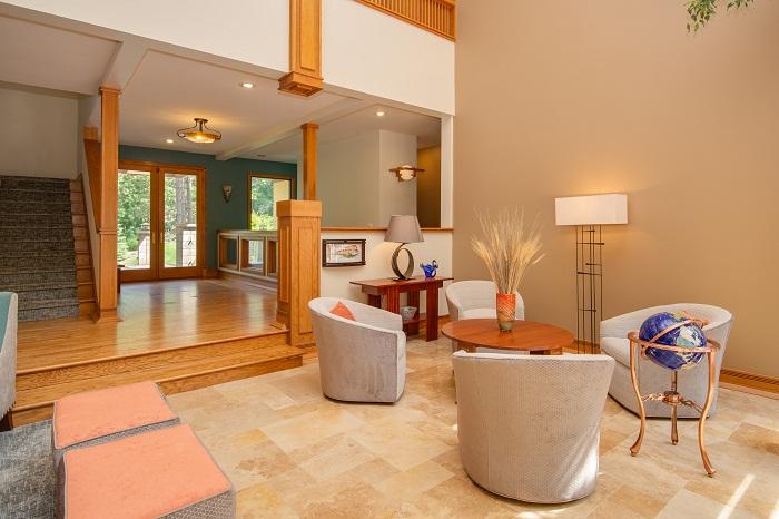 Wright Inspired Living Room