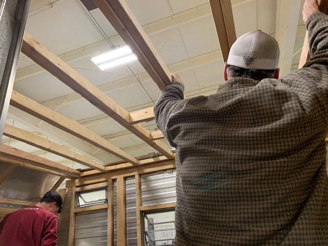 Thrifty Kitty ceiling framework