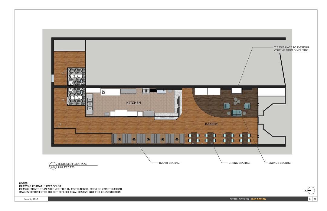 Bakery Rendered Floorplan