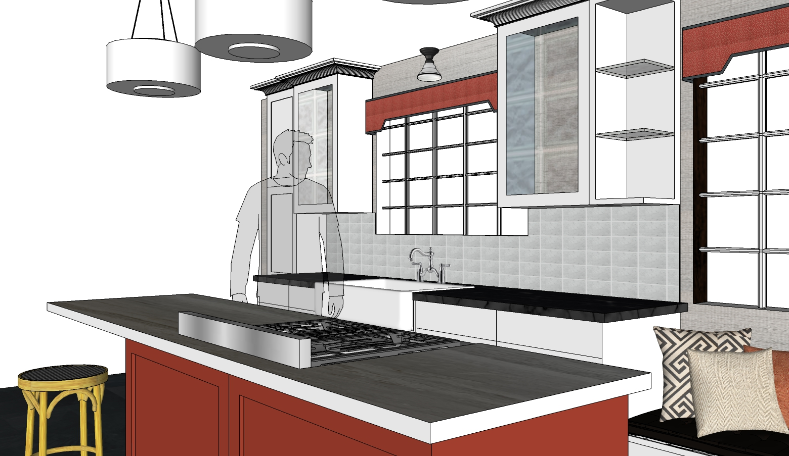 SketchUp Kitchen Drawing