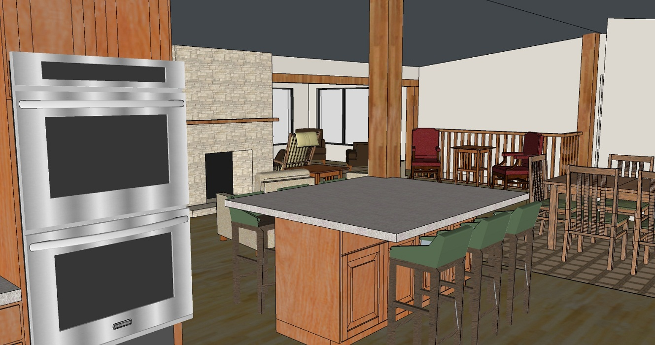 Residential Great Room 3D Model