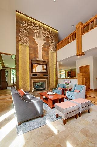 Frank Lloyd Wright Inspired Livng Room