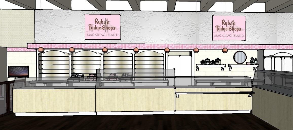 Fudge Shop Display Wall 3D Model