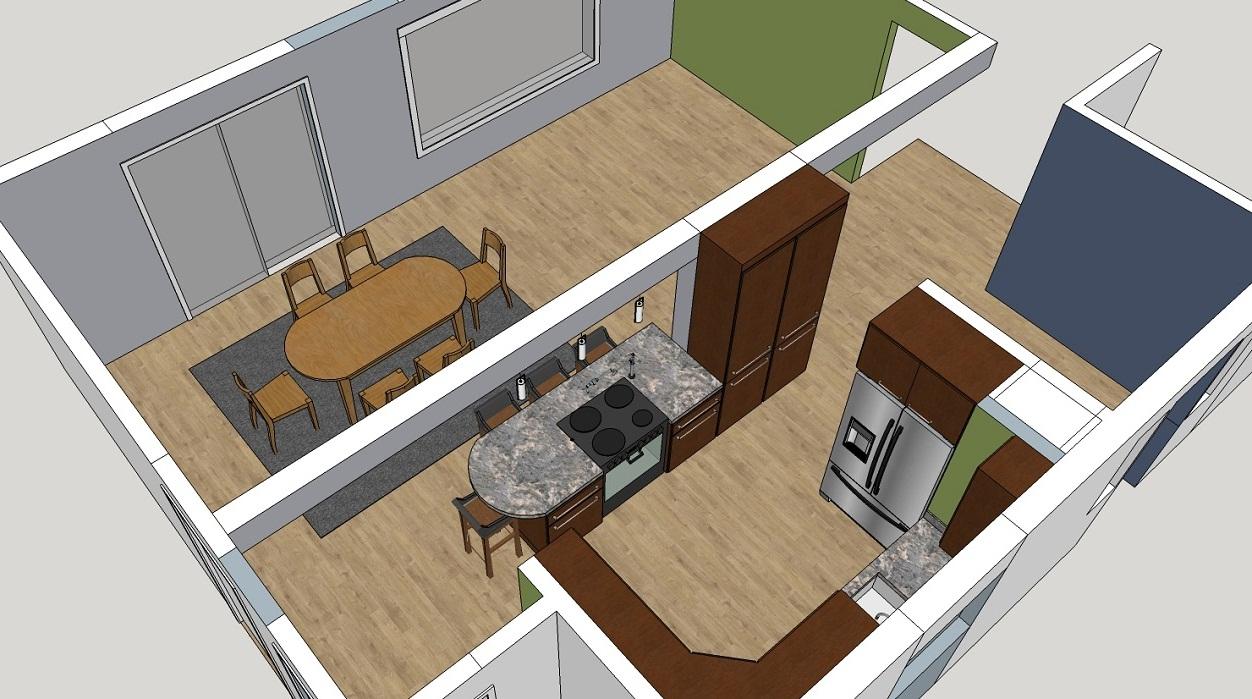 Residential Kitchen 3D Model