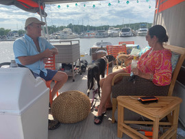Pontoon boat at Tower Marine 2020