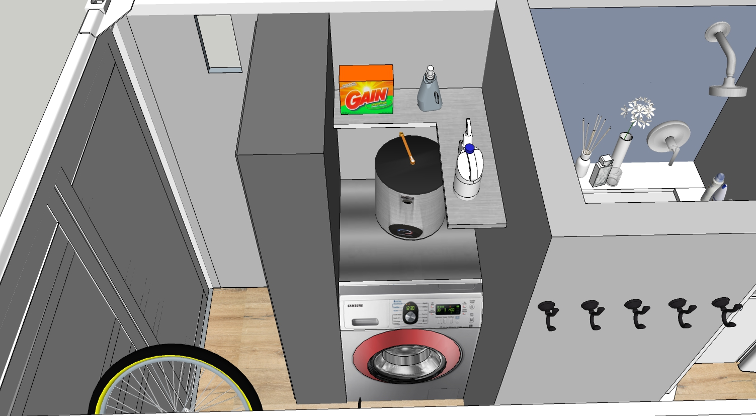 Laundry and Water Heater