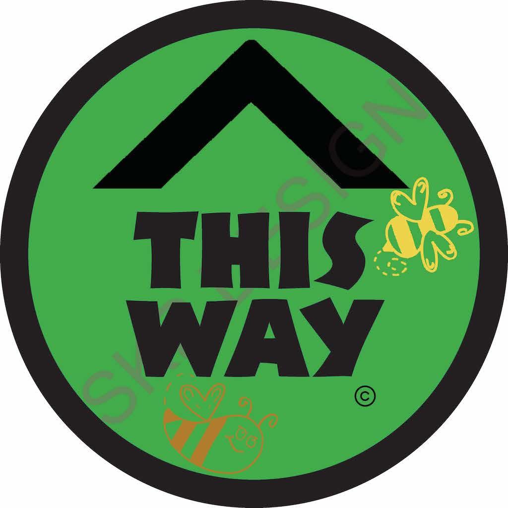 This Way Floor Sticker