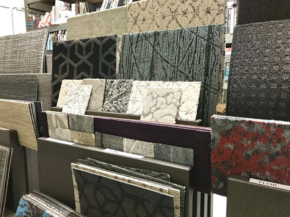 FLOR carpet tile samples