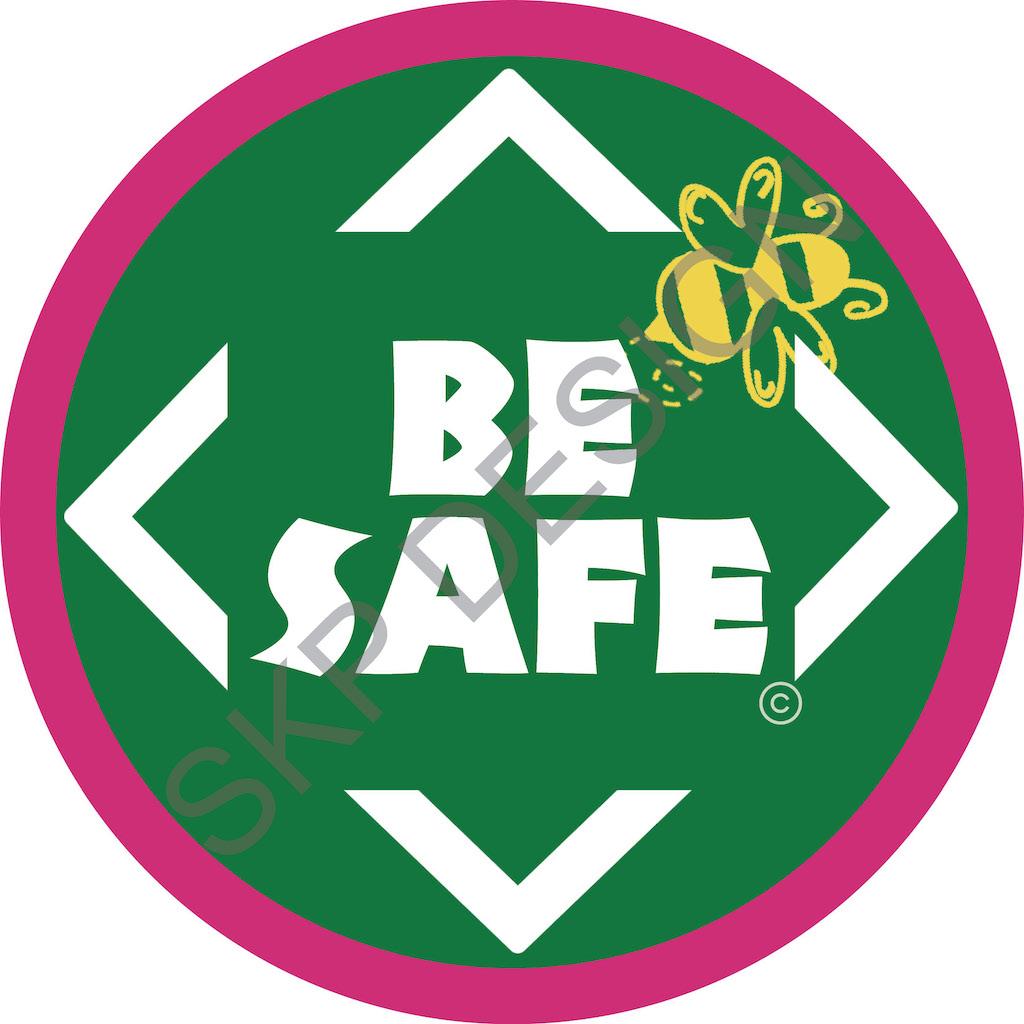 Be Safe Floor Sticker