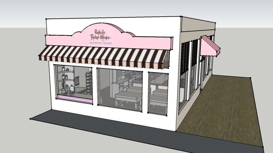 Fudge Shop Exterior 3D Model