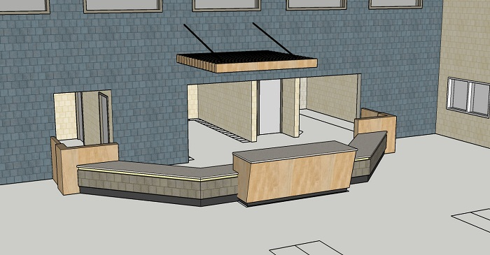 Reception Desk Drawing