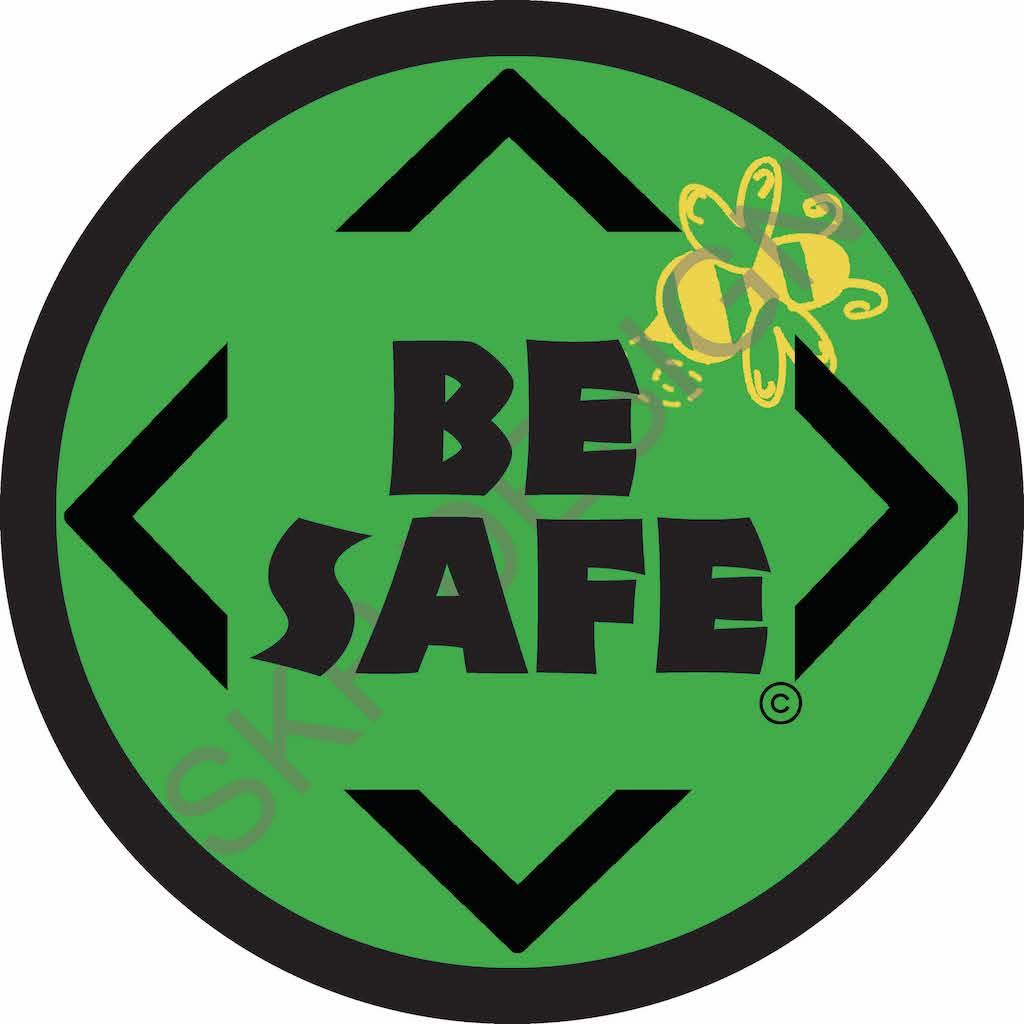 Be Safe Round Floor Sticker