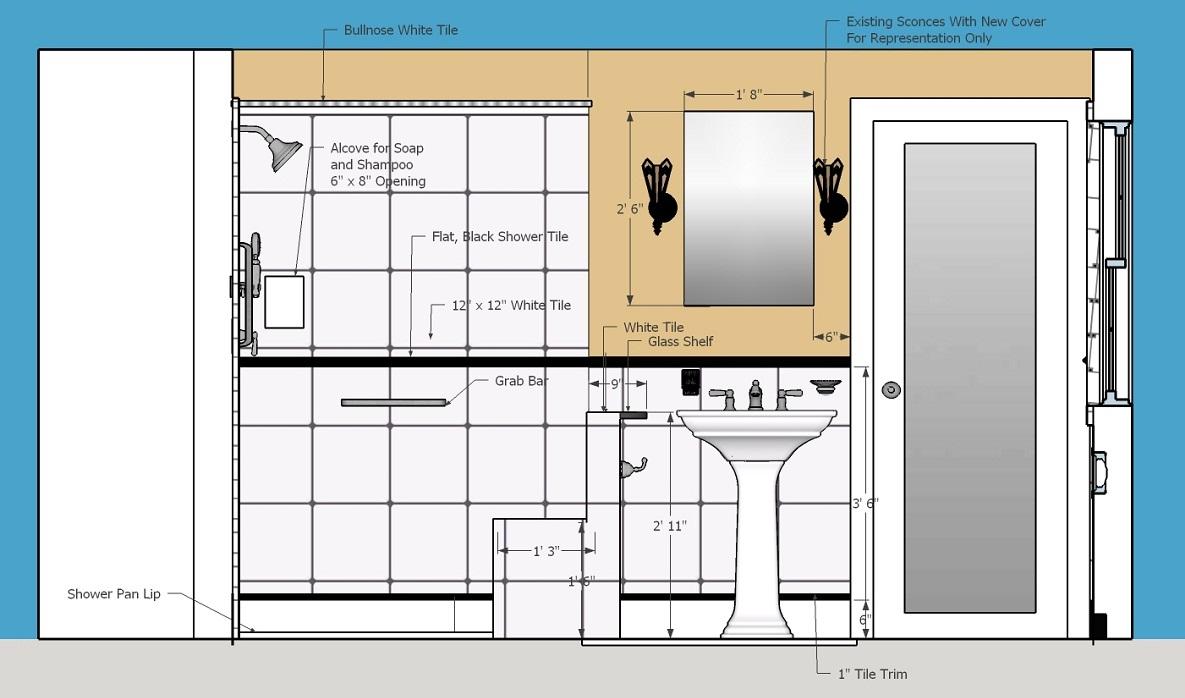Residential Bathroom Elevation