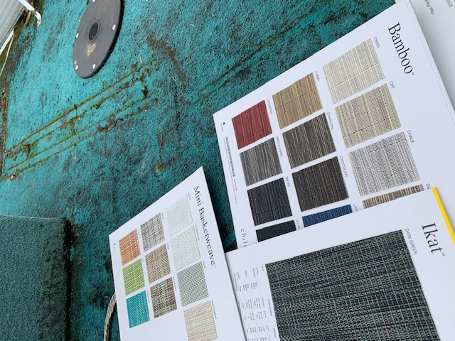 Pontoon Boat Rehab - thinking about color and material selections