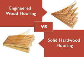 What is the difference between solid hardwood and engineered hardwood flooring?