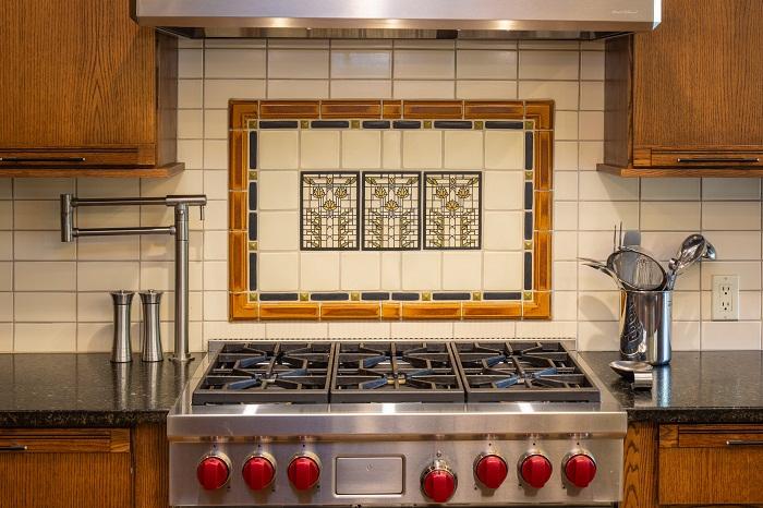 Wright Inspired Tile Backsplash