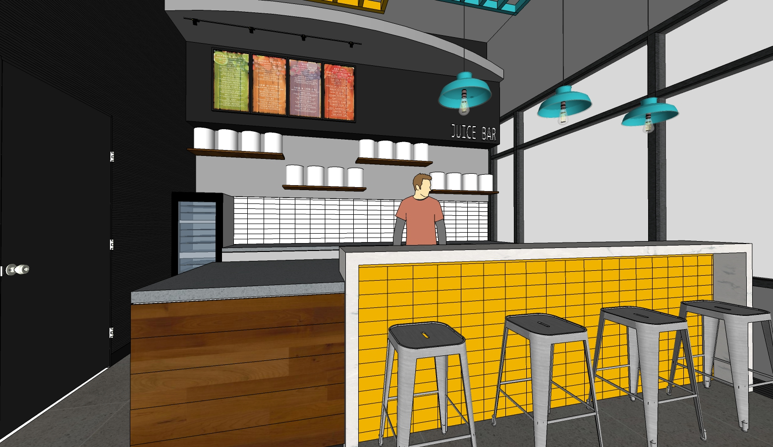 Drawing of Juice Bar