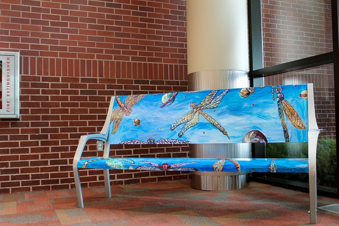Custom Painted Bench
