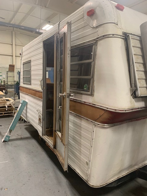 SKP Design's Little Gem camper BEFORE. We're calling it Thrifty Kitty!