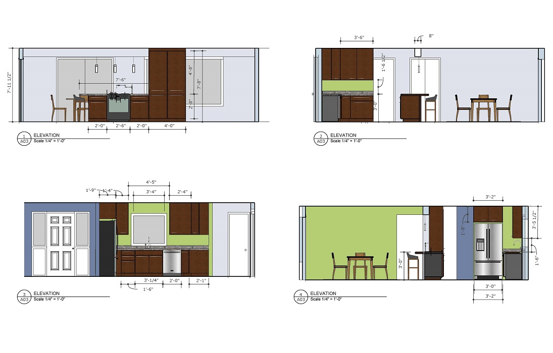 Residential Kitchen Elevations