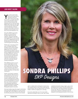OCTOBER 2016 Women's Lifestyle Magazine Sondra Phillips Feature Article