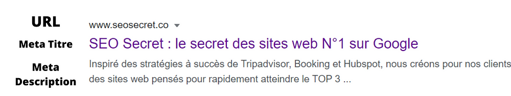 Recherche Google Meta Données