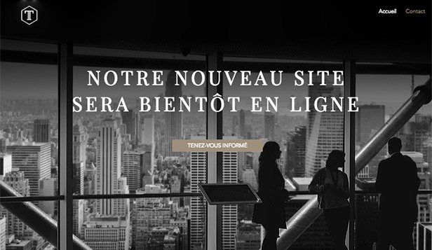 En Construction website templates – Entreprise à venir