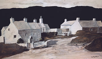 John Knapp-Fisher - Limited Edition Prints - Cottages Abereiddy