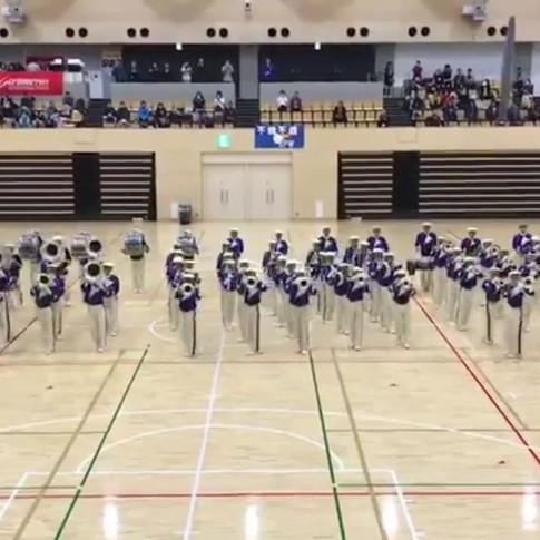 開会式地元の大洗高校生によるマーチングバンド