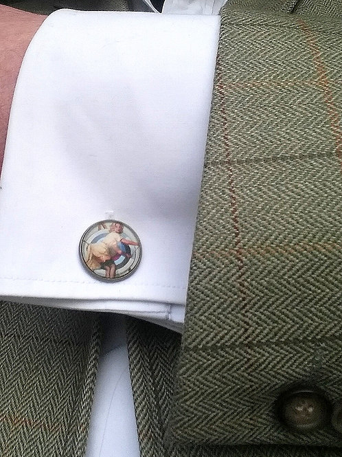 Vintage style Pin-Up target cufflinks