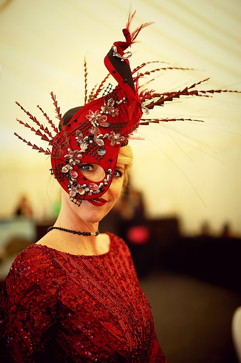Dali inspired Headpiece by Pippa Eastman