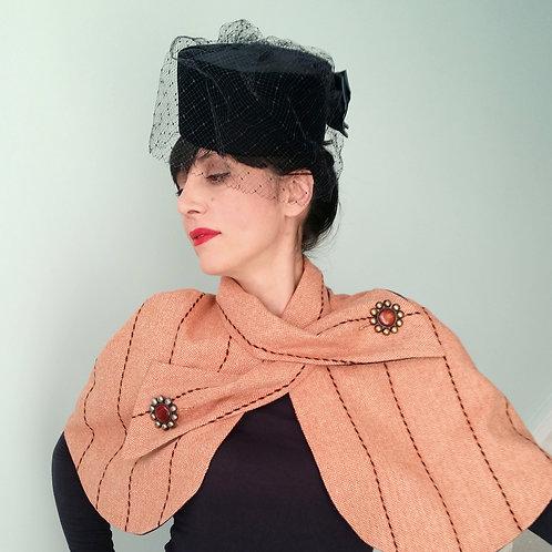 Belle Epoque Capelet Apricot tweed