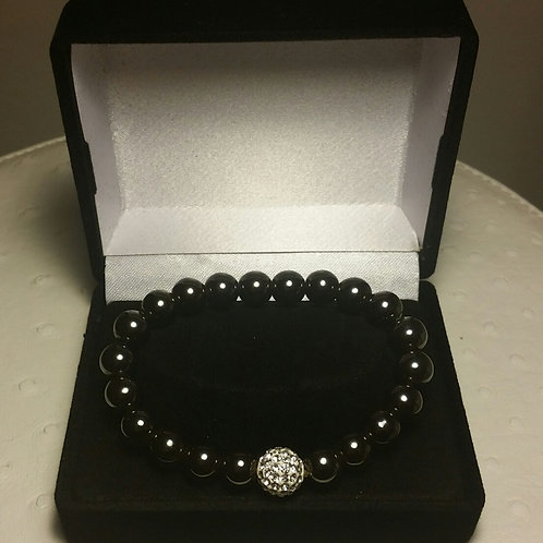 Hematite and Swarovski crystal Bracelet