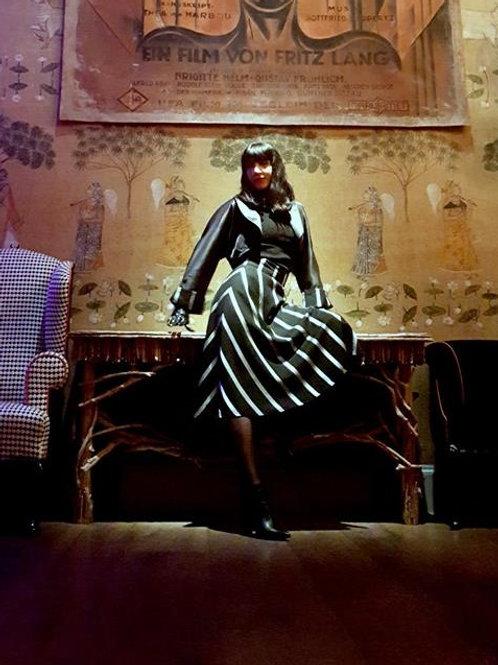 'Metropolis' 1930's style chevron flared skirt and bolero suit by Zorica Z