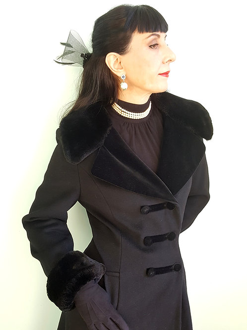 Beautiful vintage Cossack inspired Fit and Flare Romantic riding coat