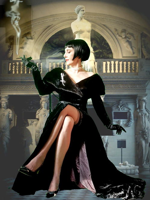 Breathtaking Bruce Oldfield original Couture creation 1980s Gown