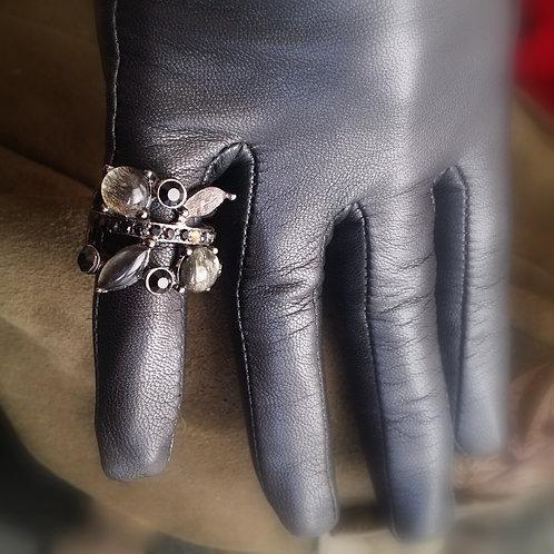 Crystal gothic/art nouveau design ring
