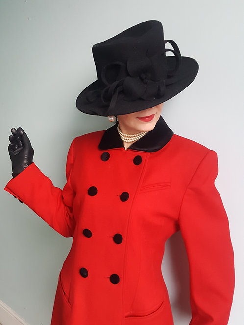 Vintage Mansfield equestrian inspired Red Wool Jacket