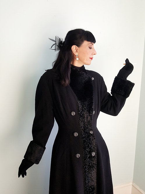 Sensational 1970s/80s vintage Dr Zhivago inspired Swagger Fit & Flare coat