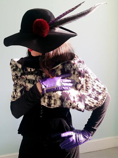 Lee Lapthorne Signature embossed Velvet scarf