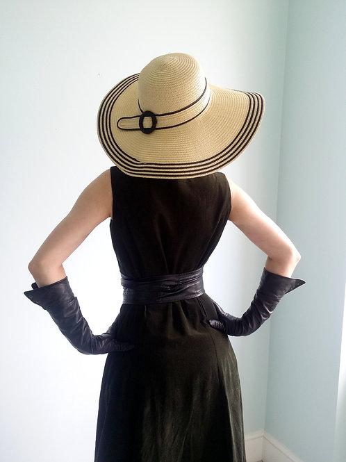 The Villefranche pale staw Belt sun hat