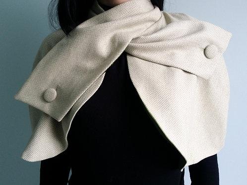 Light green Herringbone tweed Belle Epoque Cape