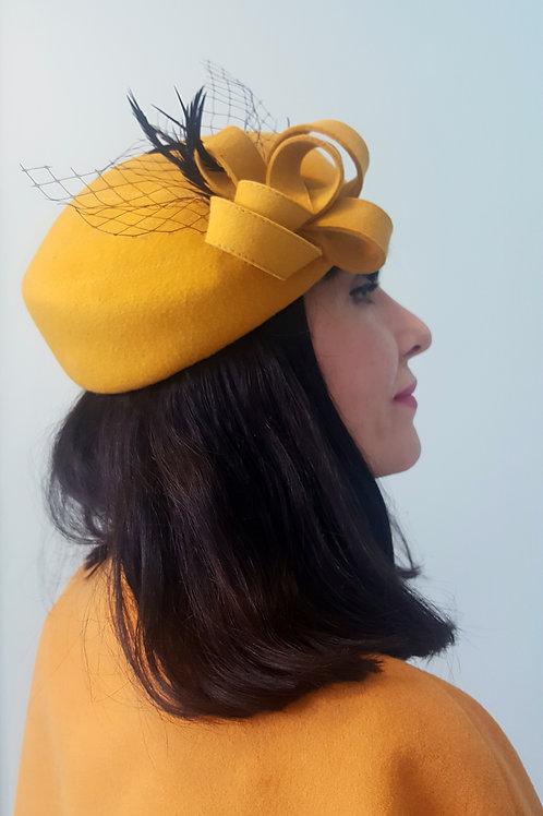 Saffron 40's style hat in wool felt